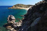 The palm beach in Vai, Crete