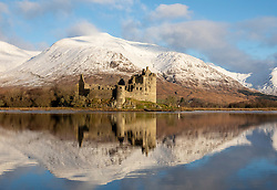 New Years Day dawned crisp and clear at Kilchurn Castle, Loch Awe in Argyll. The snow well down on the mountains and the reflections on the loch made for a tranquil scene…….. (c) Stephen Lawson | Edinburgh Elite media