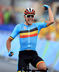 Belgium's Greg van Avermaet wins the Men's Road race which takes place at Fort Copacabana on the first day of the Rio Olympics Games, Brazil.