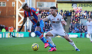 Sheffield United's George Baldock and Crystal Palace's Patrick van Aanholt during the Premier League match at Selhurst Park, London. Picture date: 1st February 2020. Picture credit should read: Paul Terry/Sportimage