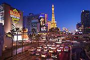 Busy Vegas Strip Cityscape in Las Vegas, Nevada.