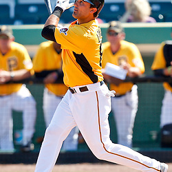 February 25, 2011; Bradenton, FL, USA; Pittsburgh Pirates outfielder Andrew Lambo (81) during a spring training exhibition game against the State College of Florida Manatees at McKechnie Field. The Pirates defeated the Manatees 21-1. Mandatory Credit: Derick E. Hingle