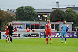 Bristol Academy Womens' sign displays the current during the second half. - Photo mandatory by-line: Nizaam Jones- Mobile: 07583 387221 - 28/09/2014 - SPORT - Women's Football - Bristol - SGS Wise Campus - BAWFC v Man City Ladies - sport