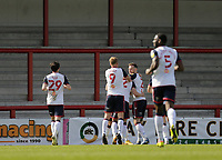 Football - 2020 / 2021 Sky Bet League Two - Morecambe vs. Bolton Wanderers<br /> <br /> Ben Jackson of Bolton Wanderers celebrates after he puts the visitors 1-0 ahead just before half time, at the Mazuma Stadium.<br /> <br /> COLORSPORT/ALAN MARTIN