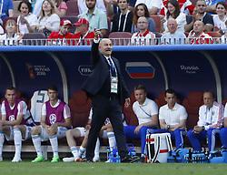 July 1, 2018 - Moscow, Russia - Round of 16 Russia v Spain - FIFA World Cup Russia 2018.Russia coach Stanislav Cherchesov at Luzhniki Stadium in Moscow, Russia on July 1, 2018. (Credit Image: © Matteo Ciambelli/NurPhoto via ZUMA Press)