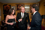 MR. AND MRS. GIANCARLO CHIES; ANDREA PERRONE, BRIONI FRAGRANCE LAUNCH. Annabels. Berkeley Sq. London. 14 October 2009.