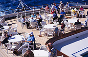 Passengers onboard MV Minerva cruise ship, Swan Hellenic tour company in 1999, Swan Hellenic went out of business in 2017.