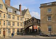Bridge of Sighs, Hartford College, New College Lane, University of Oxford, England, UK
