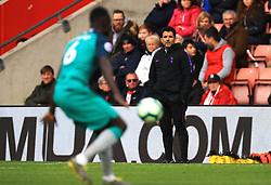 Tottenham Hotspur stand in manager Jesus Perez with manager Mauricio Pochettino (not pictured) in the stands
