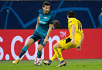 SAINT PETERSBURG, RUSSIA - DECEMBER 08: Aleksei Sutormin of Zenit St. Petersburg during the UEFA Champions League Group F stage match between Zenit St. Petersburg and Borussia Dortmund at Gazprom Arena on December 8, 2020 in Saint Petersburg, Russia. (Photo by MB Media)