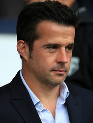 """Watford manager Marco Silva during the Premier League match at The Hawthorns, West Bromwich. PRESS ASSOCIATION Photo. Picture date: Saturday September 30, 2017. See PA story SOCCER West Brom. Photo credit should read: Mike Egerton/PA Wire. RESTRICTIONS: EDITORIAL USE ONLY No use with unauthorised audio, video, data, fixture lists, club/league logos or """"live"""" services. Online in-match use limited to 75 images, no video emulation. No use in betting, games or single club/league/player publications"""