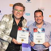 NLD/Utrecht/20171002 - Uitreiking Buma NL Awards 2017, Rene Karst en Stef Ekkel winnen de award Grootste Feesthit