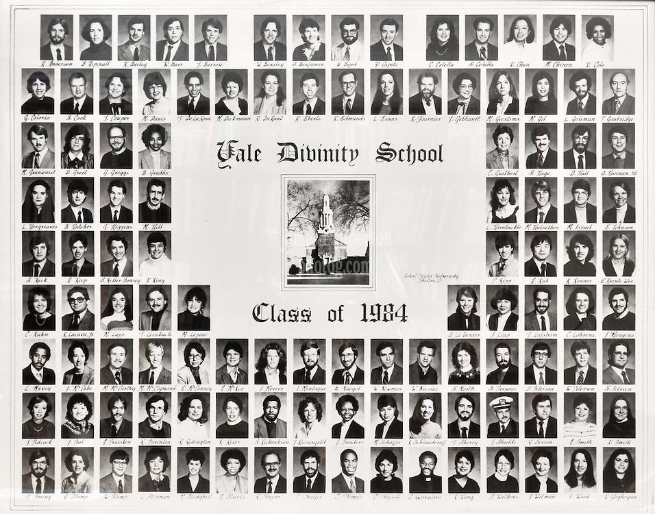 1984 Yale Divinity School Senior Portrait Class Group Photograph