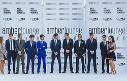 May 25, 2018 - Montecarlo, Monaco - Formula 1 drivers present the creations of Alessandra Vicedomini at the 15th Amber Lounge Charity Fashion Show 2018 in Monte Carlo, Monaco. (Credit Image: © Robert Szaniszlo/NurPhoto via ZUMA Press)