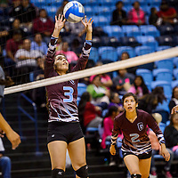 Ganado Hornet Mariah Cook (3) sets up a shot on the Window Rock Scouts Tuesday at the Window Rock Event Center.