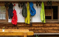 THEMENBILD - Bergsteiger und Wander Kleidung vor der Alm, aufgenommen am 09. August 2018 in Kaprun, Österreich // Climbers and hiking clothes in front of the Alm, Kaprun, Austria on 2018/08/09. EXPA Pictures © 2018, PhotoCredit: EXPA/ JFK