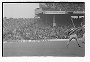 Kilkenny player about to hit the slitor during the All Ireland Senior Hurling Final Limerick v Kilkenny at Croke Park on the 2nd September 1973. Limerick 1-21 Kilkenny 1-14.