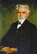 (Ferdinand) August Bebel (1840-1913) German Socialist, 1905. After the portrait by Georg Tronnier.