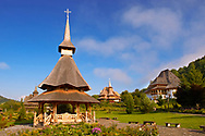 Wooden Churches & Orthdox Monastry of Barsana. Maramures, Northern Transylvania, Romania .<br /> <br /> Visit our ROMANIA HISTORIC PLACXES PHOTO COLLECTIONS for more photos to download or buy as wall art prints https://funkystock.photoshelter.com/gallery-collection/Pictures-Images-of-Romania-Photos-of-Romanian-Historic-Landmark-Sites/C00001TITiQwAdS8<br /> .<br /> Visit our MEDIEVAL PHOTO COLLECTIONS for more   photos  to download or buy as prints https://funkystock.photoshelter.com/gallery-collection/Medieval-Middle-Ages-Historic-Places-Arcaeological-Sites-Pictures-Images-of/C0000B5ZA54_WD0s