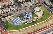 Nederland, Zuid-Holland, Den Haag, 15-07-2012; Scheveningen. Museum beelden aan Zee, aan de Strandweg - Boulevard van Scheveningen.View on Scheveningen (near The Hague) with the Museum Beelden aan Zee (seaside sculptures) next to the Esplanade. .luchtfoto (toeslag), aerial photo (additional fee required).foto/photo Siebe Swart