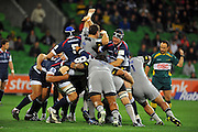 Rolling action / Maul<br /> Melbourne Rebels v The Hurricanes<br /> Rugby Union - 2011 Super Rugby<br /> AAMI Park, Melbourne VIC Australia<br /> Friday, 25 March 2011<br /> © Sport the library / Jeff Crow