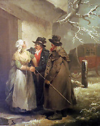 Painting called 'The Departure' 1792. George Morland.