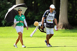 May 26, 2018 - Ann Arbor, Michigan, United States - Minjee Lee of Perth, Australia walks up the fairway toward the green with her caddy during the third round of the LPGA Volvik Championship at Travis Pointe Country Club, Ann Arbor, MI, USA Saturday, May 26, 2018. (Credit Image: © Amy Lemus/NurPhoto via ZUMA Press)