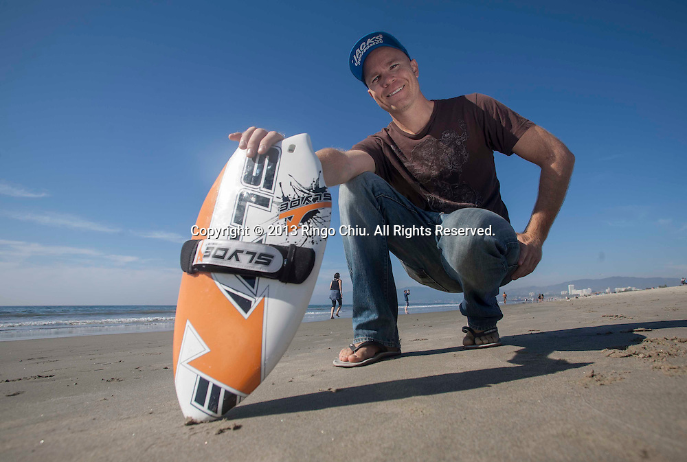 Steve Watts founder of lydeboard, which makes surf boards for hands. (Photo by Ringo Chiu/PHOTOFORMULA.com)