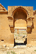 """Pictures of the the ruins of the 8th century University of  Harran, south west Anatolia, Turkey.  Harran was a major ancient city in Upper Mesopotamia whose site is near the modern village of Altınbaşak, Turkey, 24 miles (44 kilometers) southeast of Şanlıurfa. The location is in a district of Şanlıurfa Province that is also named """"Harran"""". Harran is famous for its traditional 'beehive' adobe houses, constructed entirely without wood. The design of these makes them cool inside. 48 .<br /> <br /> If you prefer to buy from our ALAMY PHOTO LIBRARY  Collection visit : https://www.alamy.com/portfolio/paul-williams-funkystock/harran.html<br /> <br /> Visit our TURKEY PHOTO COLLECTIONS for more photos to download or buy as wall art prints https://funkystock.photoshelter.com/gallery-collection/3f-Pictures-of-Turkey-Turkey-Photos-Images-Fotos/C0000U.hJWkZxAbg ."""