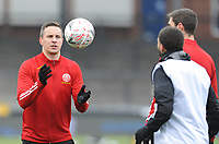 Sheffield United's Phil Jagielka during the pre-match warm-up <br /> <br /> Photographer Ian Cook/CameraSport<br /> <br /> The Emirates FA Cup Third Round - Bristol Rovers v Sheffield United - Saturday 9th January 2021 - Memorial Stadium - Bristol<br />  <br /> World Copyright © 2021 CameraSport. All rights reserved. 43 Linden Ave. Countesthorpe. Leicester. England. LE8 5PG - Tel: +44 (0) 116 277 4147 - admin@camerasport.com - www.camerasport.com