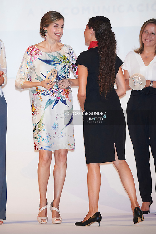 Queen Letizia of Spain attended the Ceremony of the <br /> National Fashion Awards 2015 at Museo del Traje on July 21, 2016 in Madrid