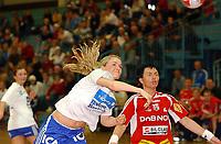 Håndball, kvinner, Gildeserien 04.01.05 Byåsen - Nordstrand 29-21, Randi Gustad og Trine Haltvik<br />Foto: Carl-Erik Eriksson, Digitalsport