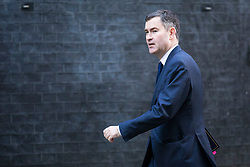 © Licensed to London News Pictures. 16/01/2018. London, UK. Justice Secretary David Gauke arrives on Downing Street for the weekly Cabinet meeting. Photo credit: Rob Pinney/LNP