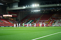 Football - 2020 / 2021 Champions League - Group D - Liverpool vs Atalanta - Anfield<br /> <br />  A one minute silence is observed in memory of Diago Marradona<br /> <br /> <br /> <br /> COLORSPORT/TERRY DONNELLY