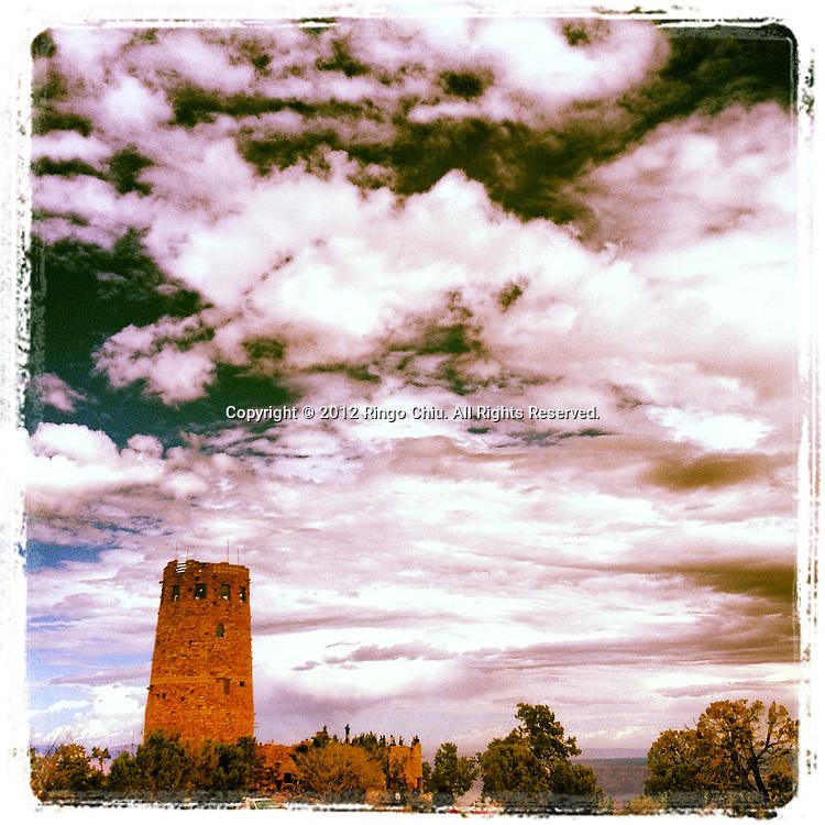 Grand Canyon Desert View Watchtower in Arizona, USA. (Photo by Ringo Chiu/PHOTOFORMULA.com).