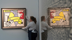 © Licensed to London News Pictures. 14/06/2018. LONDON, UK. ''Cubist Still Life'' by Roy Lichtenstein, (Est. £1,800,000 - 2,500,000). Preview of Impressionist & Modern and Contemporary art sales, which will take place at Sotheby's New Bond Street on 19 and 26 June 2018 respectively.  Photo credit: Stephen Chung/LNP