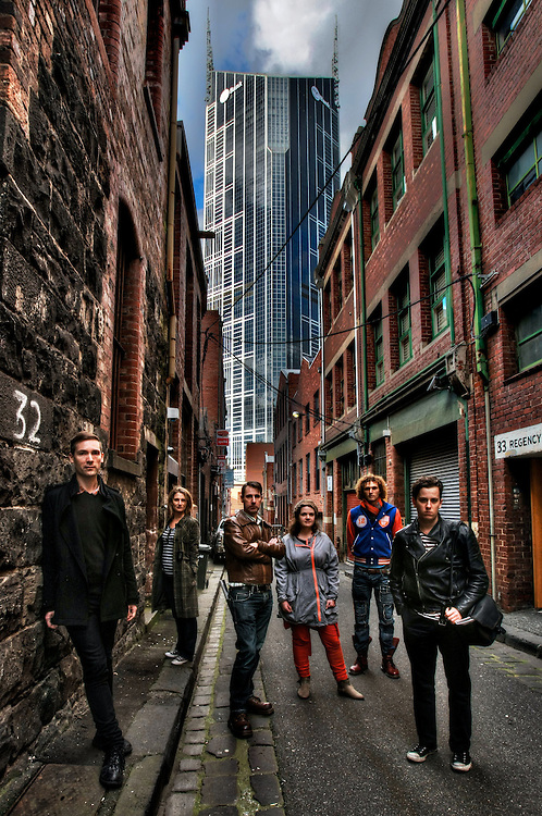 Melbourne's laneways. Guilford Lane. Melbourne Heritage Action, left to right, Paul Beekman, Sharne Thomas, Rohan Storey, Katrina Grant, Rupert Mann, Tristan Davies. Pic By Craig Sillitoe CSZ / The Sunday Age.15/06/2012 melbourne photographers, commercial photographers, industrial photographers, corporate photographer, architectural photographers, This photograph can be used for non commercial uses with attribution. Credit: Craig Sillitoe Photography / http://www.csillitoe.com<br /> <br /> It is protected under the Creative Commons Attribution-NonCommercial-ShareAlike 4.0 International License. To view a copy of this license, visit http://creativecommons.org/licenses/by-nc-sa/4.0/. This photograph can be used for non commercial uses with attribution. Credit: Craig Sillitoe Photography / http://www.csillitoe.com<br /> <br /> It is protected under the Creative Commons Attribution-NonCommercial-ShareAlike 4.0 International License. To view a copy of this license, visit http://creativecommons.org/licenses/by-nc-sa/4.0/.