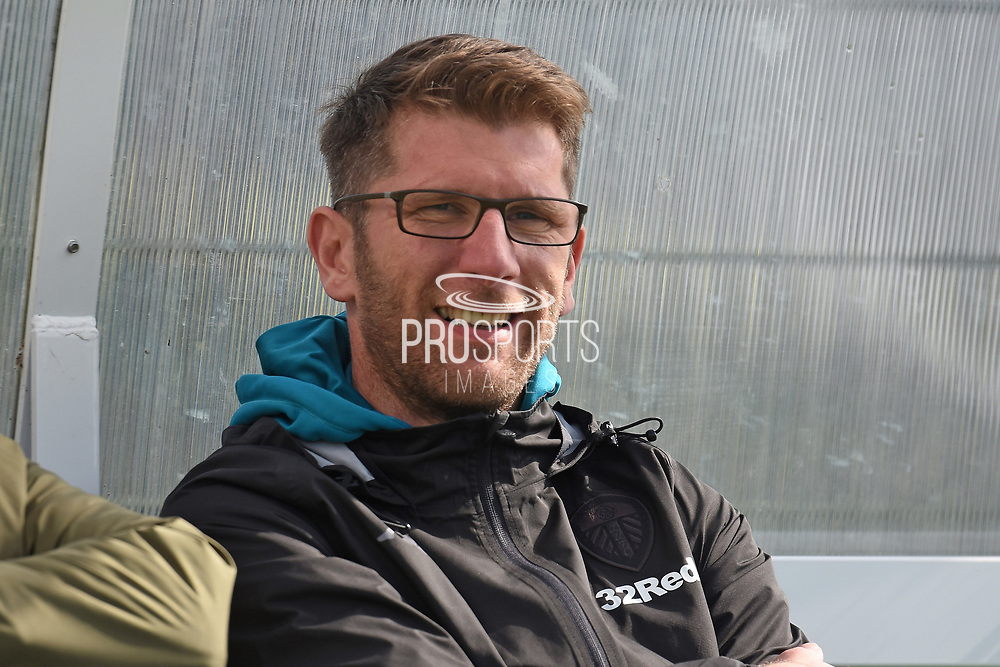 Leeds United dual coach Carlos Corberan during the U18 Professional Development League match between Coventry City and Leeds United at Alan Higgins Centre, Coventry, United Kingdom on 13 April 2019.