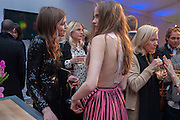 AMBER ANDERSON; ELEANOR WEEDON, The Vogue Festival 2012 in association with Vertu- cocktail party. Royal Geographical Society. Kensington Gore. London. SW7. 20 April 2012.