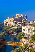 Canals of the Madinat Jumeirah resort hotel complex, Dubai, United Arab Emirates