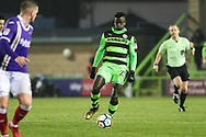 Forest Green Rovers Toni Gomes(25) runs forward during the The FA Cup match between Forest Green Rovers and Exeter City at the New Lawn, Forest Green, United Kingdom on 2 December 2017. Photo by Shane Healey.