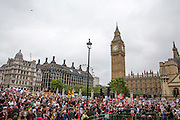The People's Assembly Against Austerity 'End Austerity Now' demonstration in Parliament square, attended by over 250,000 people on Saturday 20th of June 2015 sending a clear message to the Tory government; demanding an alternative to austerity and to policies that only benefit those at the top. London, UK.