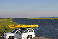 Kayaking at Back River and Great Island from Smiths Neck boat landing, Old Lyme, CT., near the mouth of the Connecticut River.