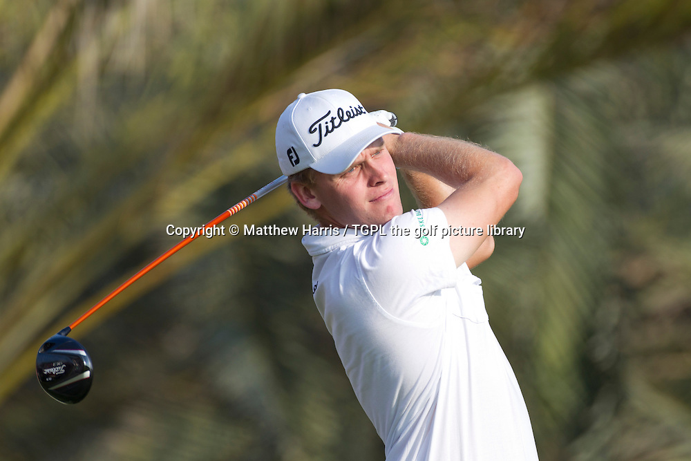 Morton Orum MADSON (DEN)during first round HSBC Abu Dhabi Championship 2014,Abu Dhabi Golf Club,Abu Dhabi,UAE.