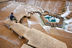 Water Gardens, designed by  Philip Johnson and John Burgee, Fort Worth, Texas, USA.