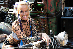 Katye Roberts at the Iron Horse Saloon during the Car show at the Iron Horse Saloon during the Sturgis Motorcycle Rally. SD, USA. Saturday, August 14, 2021. Photography ©2021 Michael Lichter.