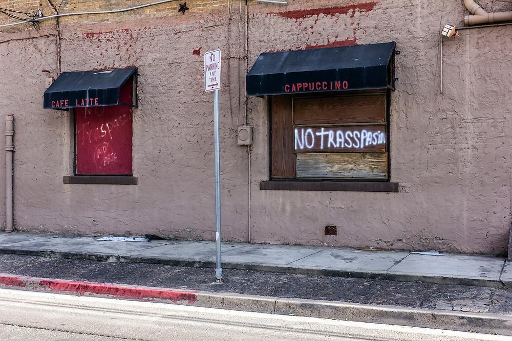 Closed business, Laredo, USA