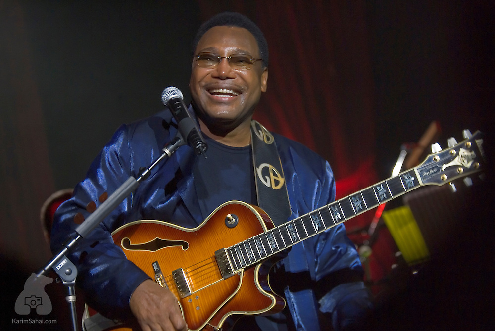 Legendary R&B singer and musician George Benson, performs at The Michael Fowler Centre, in Wellington, New Zealand; on October 20, 2004. Benson is a multi Grammy Award winner.