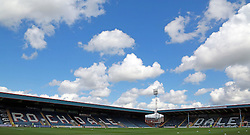 A general view of Rochdale's Spotland Stadium - Photo mandatory by-line: Joe Dent/JMP - Mobile: 07966 386802 09/08/2014 - SPORT - FOOTBALL - Rochdale - Spotland Stadium - Rochdale AFC v Peterborough United - Sky Bet League One - First game of the season