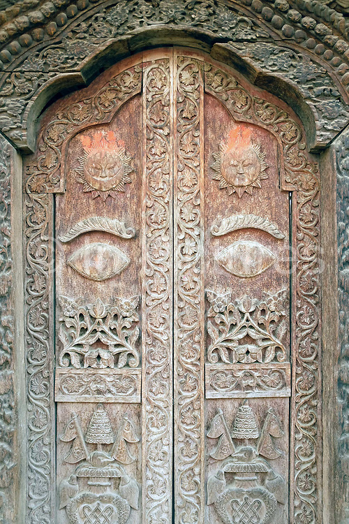 Wooden architecture in Durbar Square, Patan, Nepal.